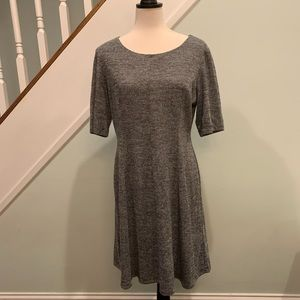 Connected Apparel 3/4 sleeve striped dress size 14